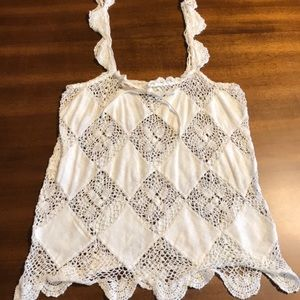 Beautiful crochet Banana Republic tank top
